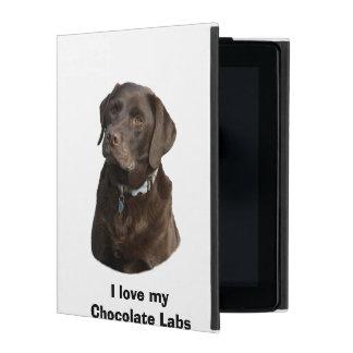 チョコレートラブラドール犬の写真のポートレート iPad ケース