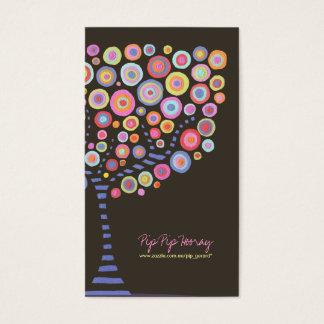 チョコレートレトロの円の木のオンライン店カード 名刺