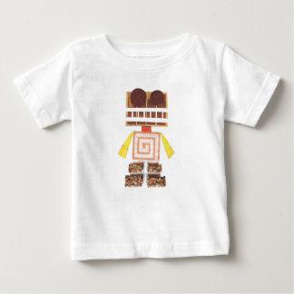 チョコレートロボット乳児の上 ベビーTシャツ