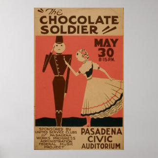 チョコレート兵士のヴィンテージWPAポスター ポスター