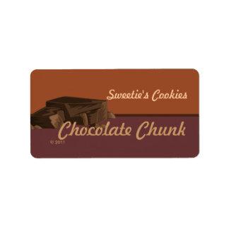 チョコレート固まりのラベル ラベル