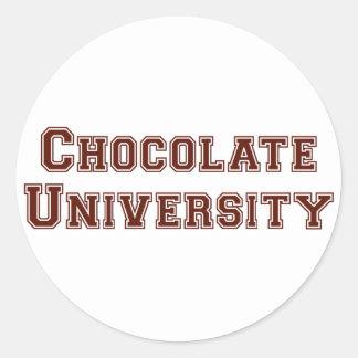 チョコレート大学 ラウンドシール