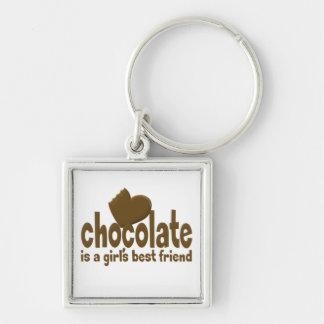 チョコレート女の子で親友 キーホルダー