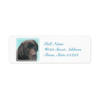 チョコレート実験室犬の郵送物のラベル ラベル