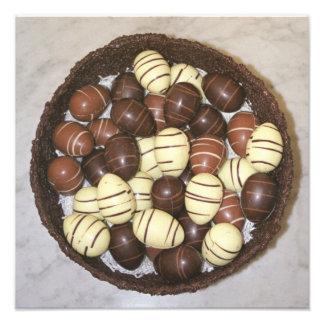 チョコレート巣の小型イースターエッグ フォトプリント