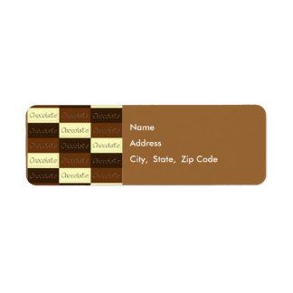 チョコレート差出人住所ラベルの多く ラベル