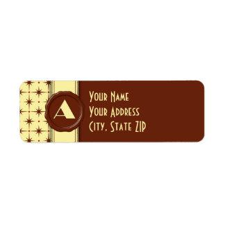 チョコレート店のモノグラム-チョコレート星- A ラベル