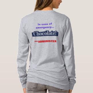 チョコレート恋人のためのTシャツ Tシャツ