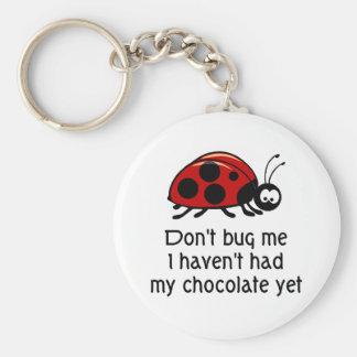 チョコレート恋人のてんとう虫Keychain ベーシック丸型缶キーホルダー