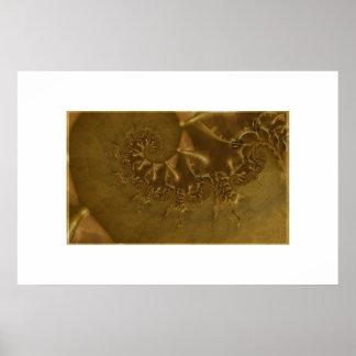 チョコレート恐竜の化石 ポスター