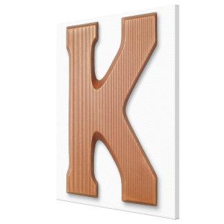チョコレート手紙k キャンバスプリント