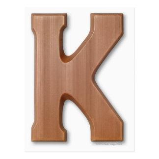 チョコレート手紙k ポストカード