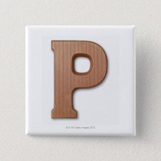 チョコレート手紙p 5.1cm 正方形バッジ