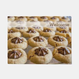 チョコレート星のクッキー ドアマット