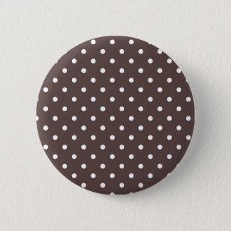 チョコレート水玉模様ボタン 5.7CM 丸型バッジ