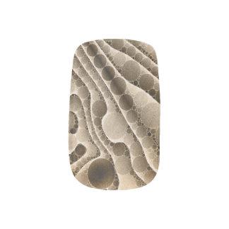 チョコレート渦巻形ので抽象的なパターン ネイルアート
