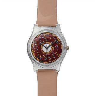 チョコレート漫画ドーナツはとの振りかけます 腕時計