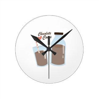 チョコレート牛 ラウンド壁時計