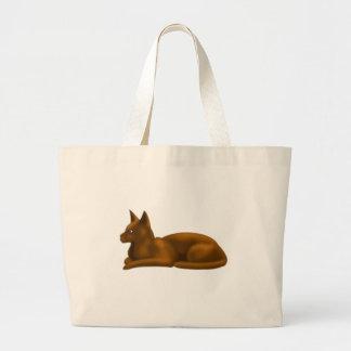 チョコレート猫のデジタル芸術 ラージトートバッグ