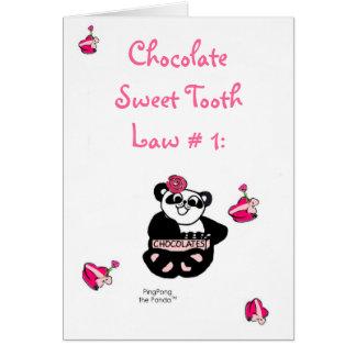 チョコレート甘党の法律 カード