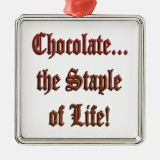 チョコレート生命Brの主要素。 Prem。 スクエアオーナメント メタルオーナメント