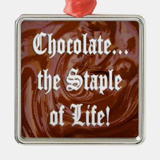 チョコレート生命Premの主要素。 正方形のオーナメント メタルオーナメント