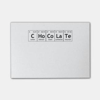 チョコレート科学の周期表の単語要素 ポストイット