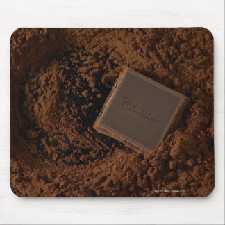 チョコレート粉のチョコレート正方形 マウスパッド