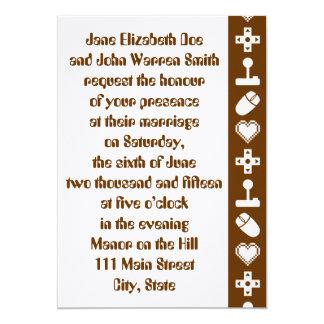 チョコレート結婚式招待状の複数競技者用モード カード