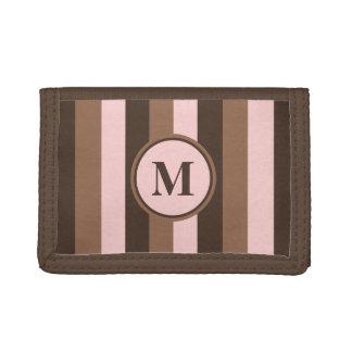 チョコレート色およびピンクのモノグラムの