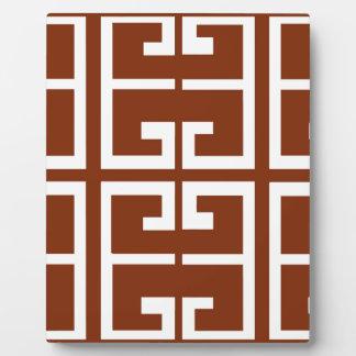 チョコレート色および白くスペインのなタイル フォトプラーク