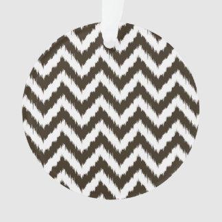 チョコレート色のシェブロンのボヘミア人パターン オーナメント