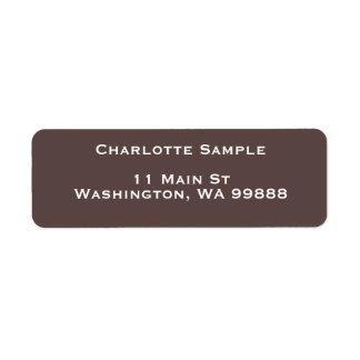 チョコレート色のテンプレートの住所シール ラベル