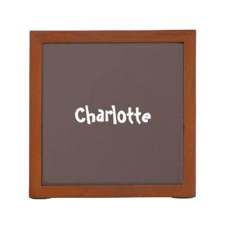 チョコレート色のパーソナライズされたな机のオルガナイザー ペンスタンド