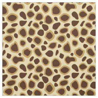 チョコレート色のヒョウのプリント-およびラクダタン ファブリック