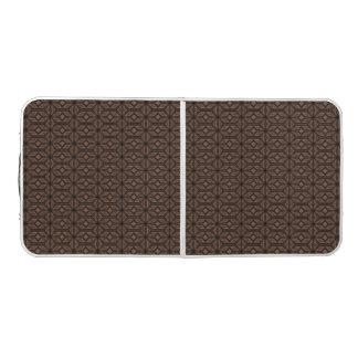 チョコレート色のモザイク卓球台 ビアポンテーブル