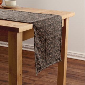 チョコレート色のモザイク綿のテーブルのランナー ショートテーブルランナー