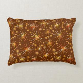 チョコレート色の世紀半ばのSputnikパターン アクセントクッション