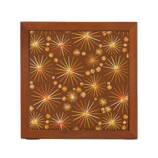 チョコレート色の世紀半ばのSputnikパターン ペンスタンド