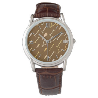 チョコレート色の便利屋用具、 腕時計