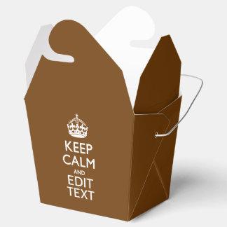 チョコレート色の平静そしてあなたの文字を保って下さい フェイバーボックス