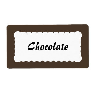 チョコレート色の普遍的なラベル ラベル