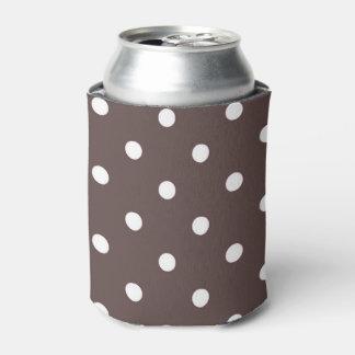 チョコレート色の水玉模様のクーラーボックス 缶クーラー