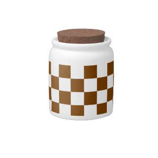 チョコレート色の点検 キャンディー皿
