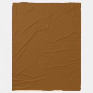 チョコレート色の無地 フリースブランケット