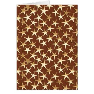 チョコレート色の金ゴールドの星 カード