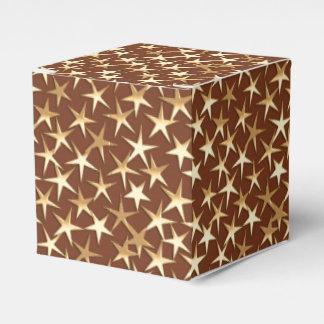 チョコレート色の金ゴールドの星 フェイバーボックス