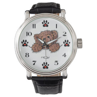 チョコレート落書き犬の腕時計 腕時計