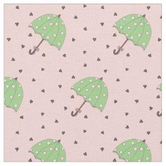 チョコレート雨滴の傘のバレンタイン雨生地 ファブリック