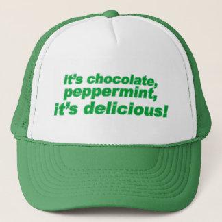 チョコレート、おいしいペパーミント キャップ
